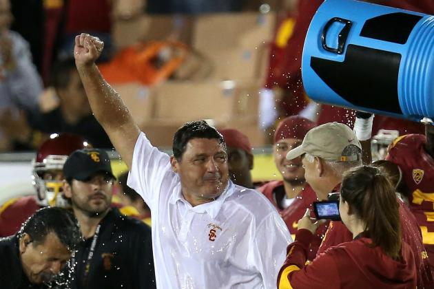 USC Football: Grading Ed Orgeron's Debut as Interim Head Coach