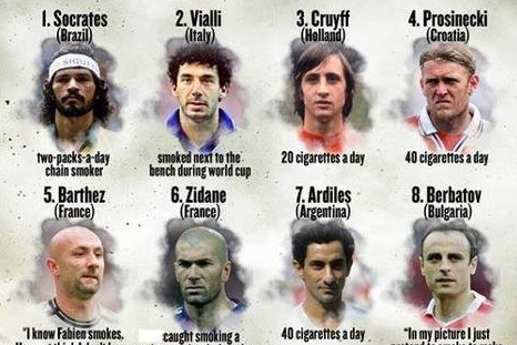 The Top 10 Footballers Who Smoke/Smoked [Graphic]