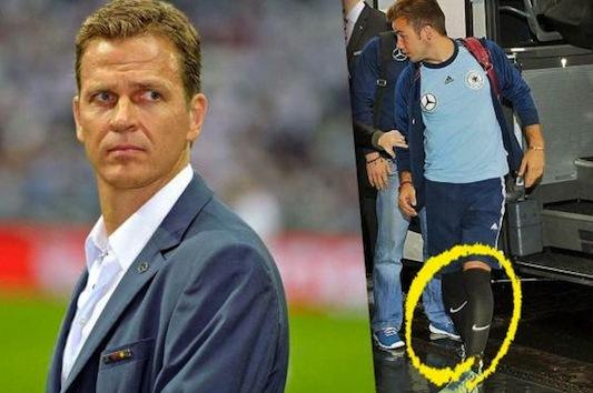 Mario Gotze Sparks Nike vs. Adidas Controversy with Socks at Germany Training