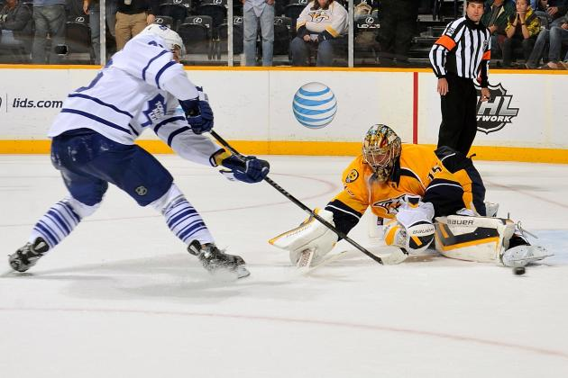 Maple Leafs Blank Predators Behind Bernier