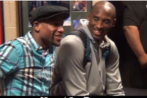 Video of Kobe Bryant and Floyd Mayweather Jr. Chatting Is Delightful