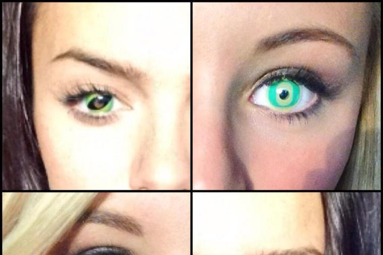 Oregon Cheerleaders Get Custom 'O' Contacts Before Washington Game