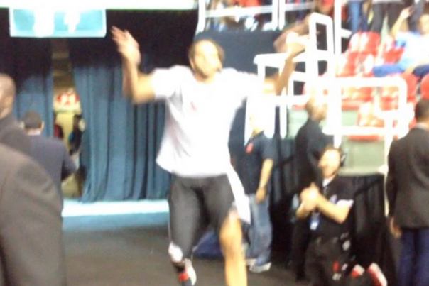 Joakim Noah Does Joakim Noah Things During Bulls Player Intros