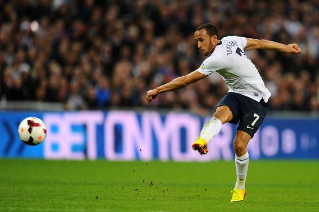 GIF: Andros Townsend Scores Fine Goal on England Debut vs. Montenegro