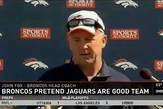 Denver TV Station Graphic Says How the Broncos Really Feel About the Jaguars