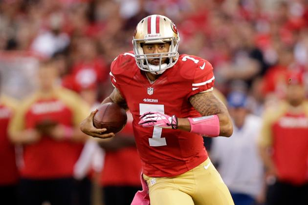 Assessing Colin Kaepernick's Week 6 Fantasy Value with Foot Injury
