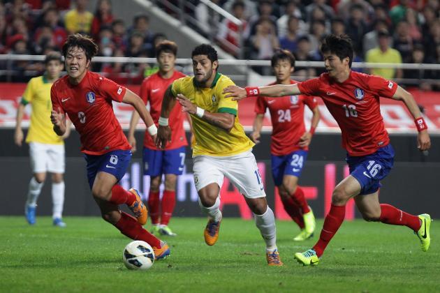 Neymar and Oscar Guide Brazil to Korea Win, but Hulk Problem Remains