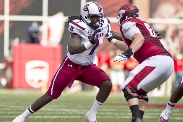 South Carolina vs. Arkansas: Jadeveon Clowney, Defense Finally Finish