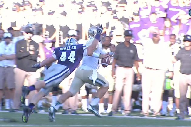 Kansas State DE Comes Up with Incredible Strip and Recovery in One Move