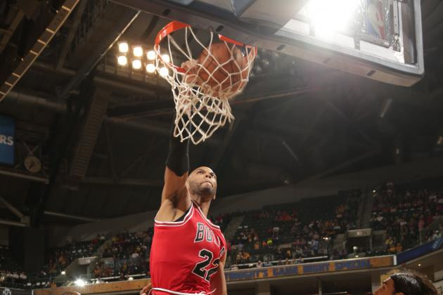 Taj Gibson Throws Down Poster Dunk on Kevin Seraphin in Rio
