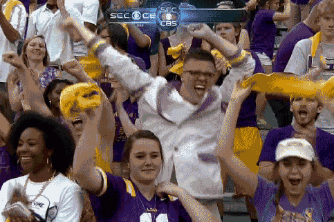 LSU Fan Is Super Excited the Tigers Won
