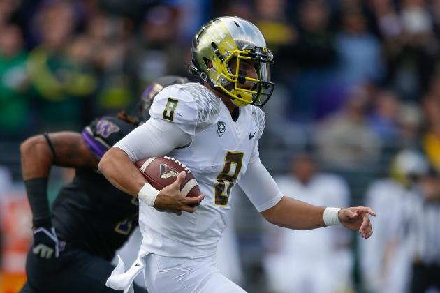 Oregon vs. Washington: Marcus Mariota Takes Commanding Lead for Heisman