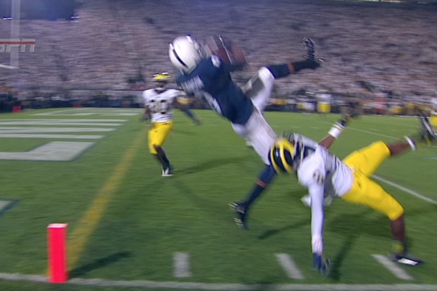 Miraculous Catch Helps Penn State Pull Off Stunning Comeback Against Michigan