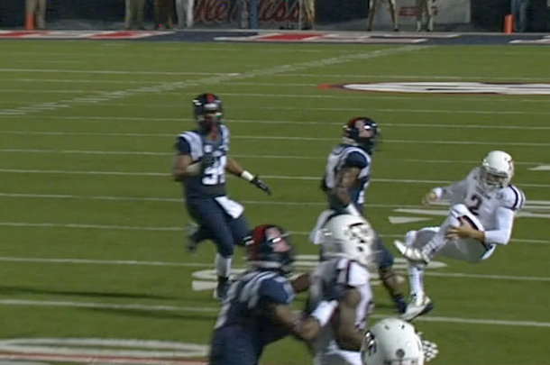 Here's the Play That Johnny Manziel Injured His Knee on Against Ole Miss