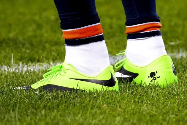 Brandon Marshall Fined by NFL for Green Cleats to Raise Mental Health Awareness