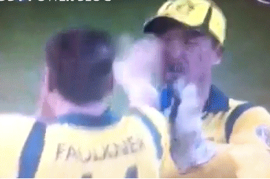 MUST SEE GIF: Australia provide one of the all time comedy injury classics