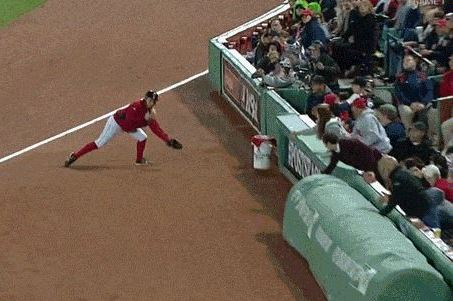 Boston Red Sox Ballgirl Hit in Face by a Stephen Drew Foul Ball