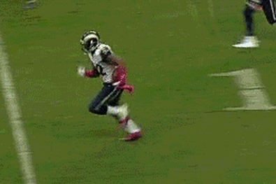 Alec Ogletree Intercepts Texans' T.J. Yates and Returns It 98 Yards