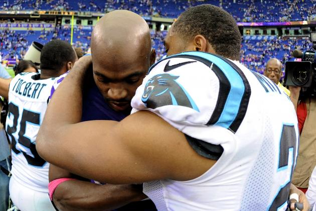 Adrian Peterson Plays vs. Panthers After Death of Son