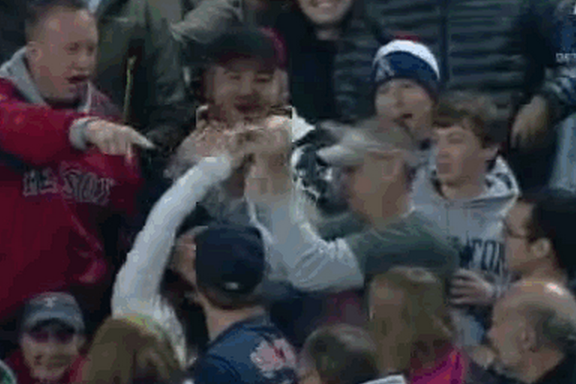 Angry Red Sox Fan Steals Home Run Ball, Allegedly Kicked Out for Racist Slurs
