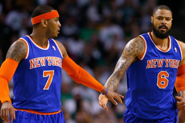 Melo Helping Tyson Chandler with Shooting