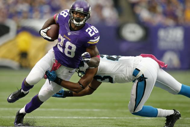 Carolina Focused on Stopping Peterson