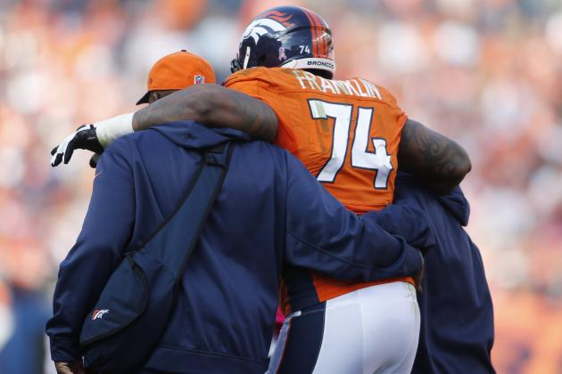 Broncos' Franklin Has Knee, Ankle Checked