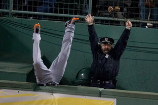 Boston Red Sox Bullpen Cop Provides Beautiful MLB Postseason Image