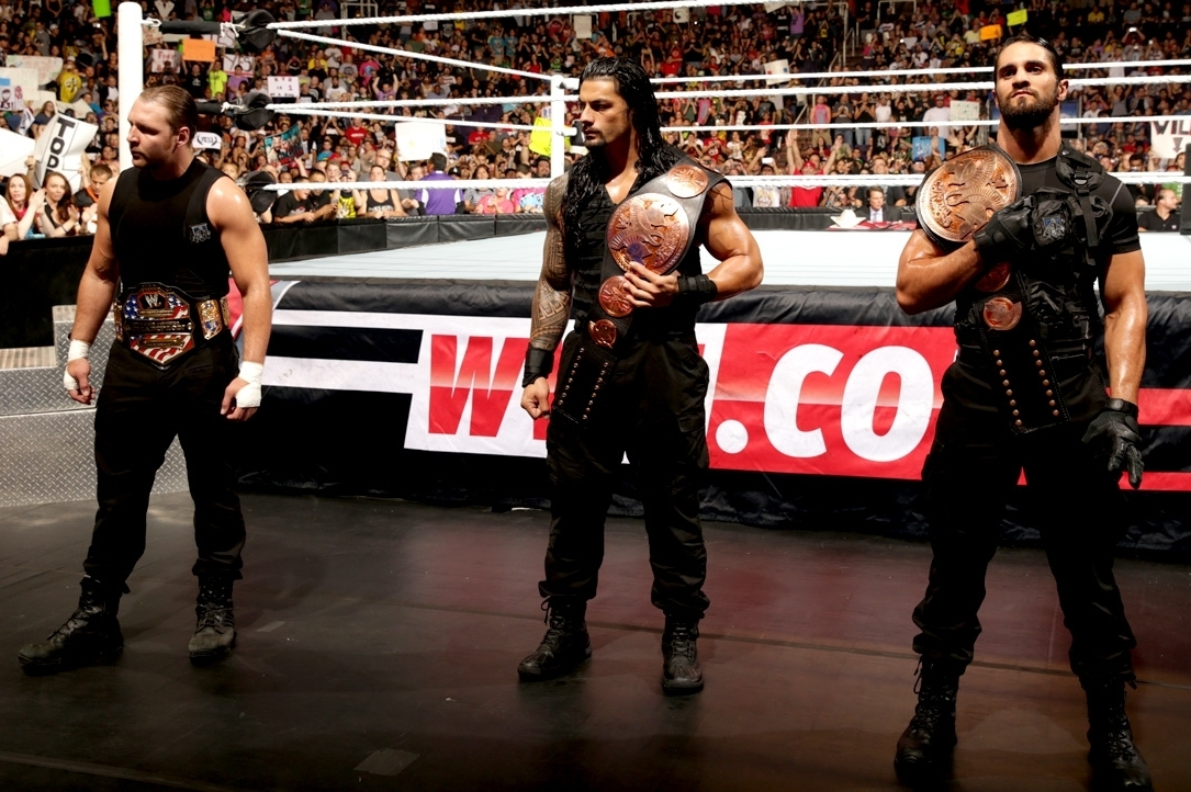 the shield 39 s current wwe role sets them up for a big future bleacher report. Black Bedroom Furniture Sets. Home Design Ideas