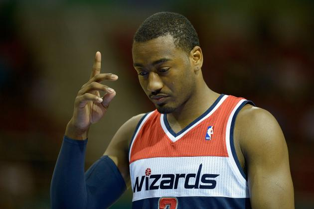 "John Wall Writing ""playoffs"" on All His Game Shoes This Season"