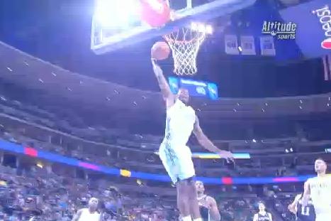 Video: Faried Throws Down Tomahawk Jam vs. Spurs