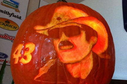 Awesome Richard Petty Jack-O-Lantern