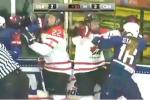 USA, Canada Women's Hockey Teams Brawl