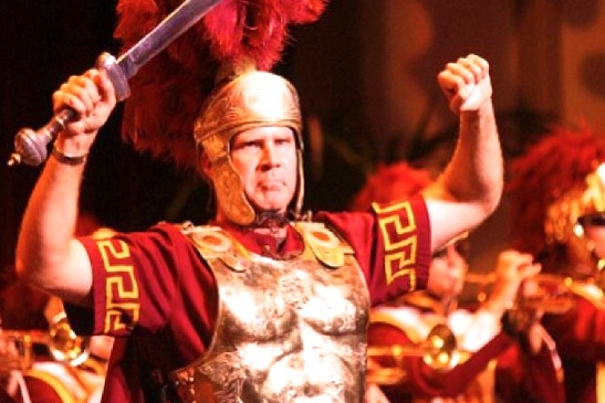 Will Ferrell Dresses in Full Trojan Gear, Leads USC Band