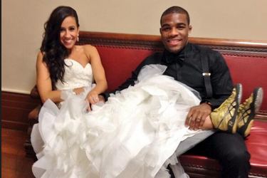 Olympic Wrestler's Bride Wears His Signature Shoes Down the Aisle