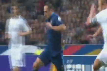 What a Hit! Franck Ribery (France) V Finland
