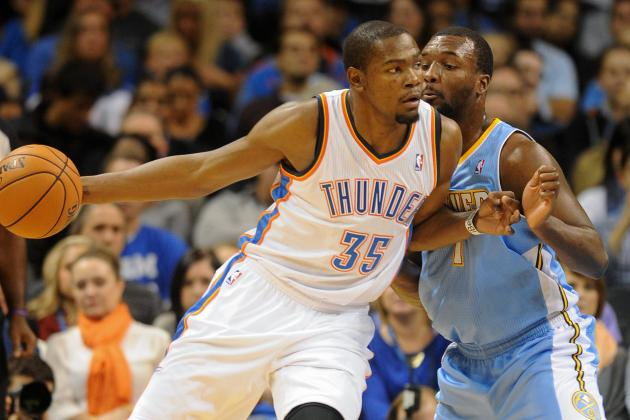Durant Scores 30 in 23 Minutes as OKC Rolls