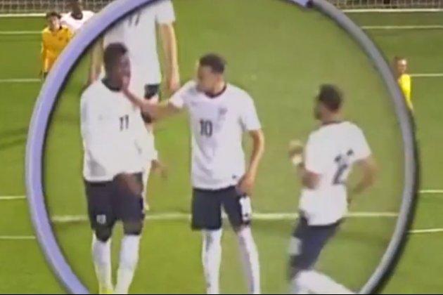 Ravel Morrison and Wilfried Zaha Fight on the Pitch During England U21s' Victory