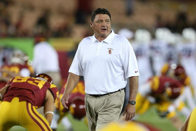 USC vs. Notre Dame: Would Win Score Ed Orgeron the Head Coaching Job?