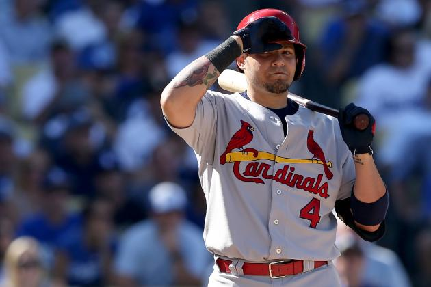 Yadier Molina Can't Come Through for Cardinals Against Dodgers