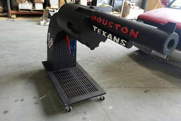 The Ultimate Gun Grill Created by Texans Fans