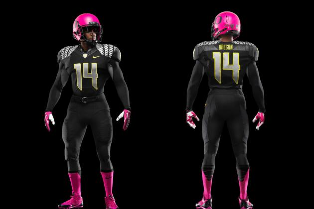 Oregon Football Pays Tribute to Breast Cancer Awareness with Pink Uniforms