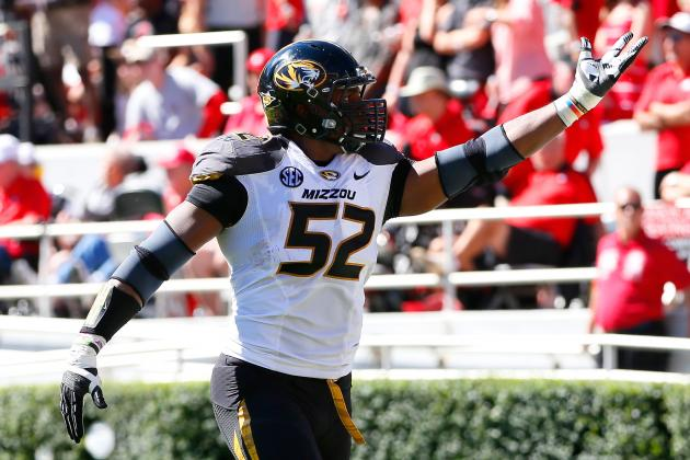 Missouri Defensive End Michael Sam Sacks Midseason Honors