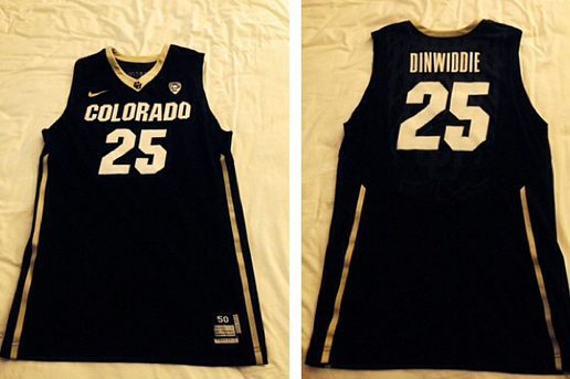 Photos: Guard Dinwiddie Unveils Road Jerseys