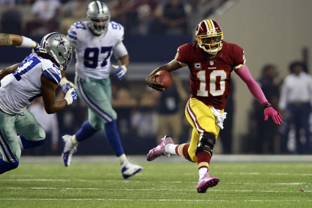 Robert Griffin III Says He Tries to Draw Penalties on Sideline Runs