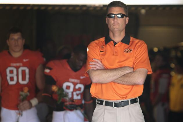 Gundy Considers '13 Defense His Best as Cowboys Coach