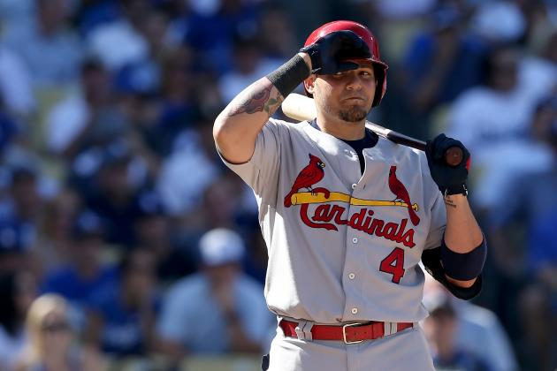 For Yadier Molina of Cardinals, It Doesn't Get Much Lower