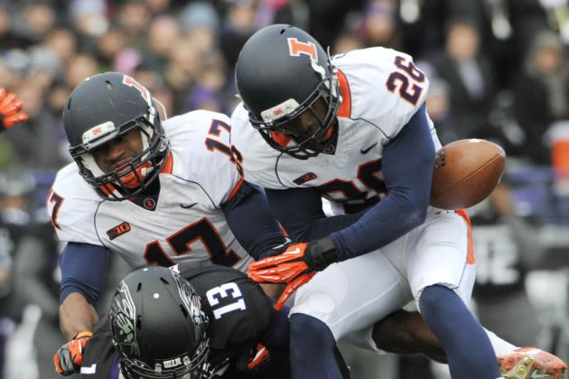 Illini at Bottom of Country in Interceptions, Sacks
