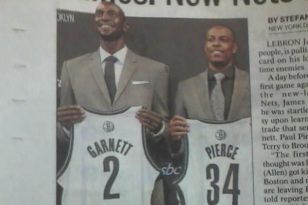 Awful Newspaper Ad Placement for Older Brooklyn Nets Players