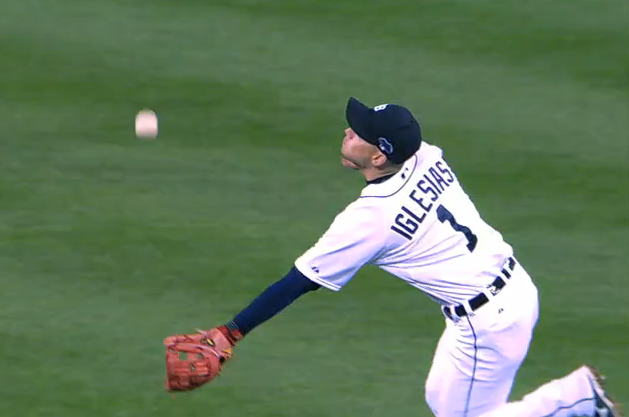 Watch Jose Iglesias Come out of Nowhere to Rob David Ortiz with Sick Catch
